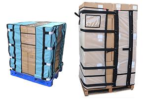reduce plastic palletwrap use by using reusable palletwrap