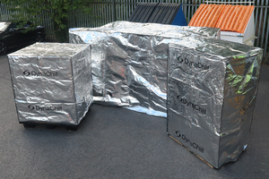 Foil pallet covers in various sizes