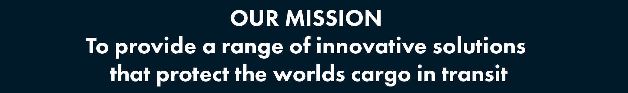 CargoWise Mission Banner