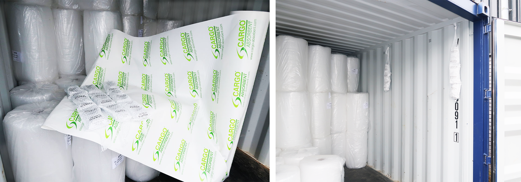 multisorb and Cargo Absorbent in container